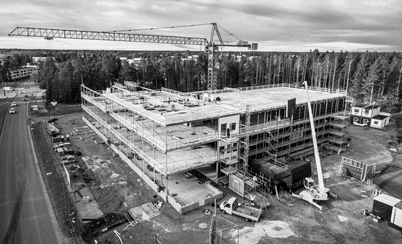 Hudik Flygfoto - Flygfotografering Prolympiaskolan